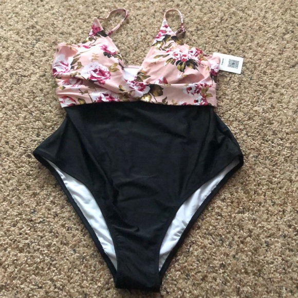 53a9f49486eac Cupshe Swim | Pink Blossom Floral Onepiece Suit Nwt | Poshmark